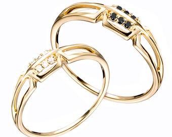 Wedding ring set his and hers, Bridal ring set, Gold promise ring, Cheap wedding ring, Cheap wedding ring set, Diamond wedding ring set.