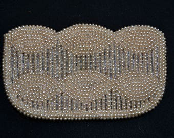 Vintage Pearl Bead Clutch Bag Purse  FREE SHIPPING