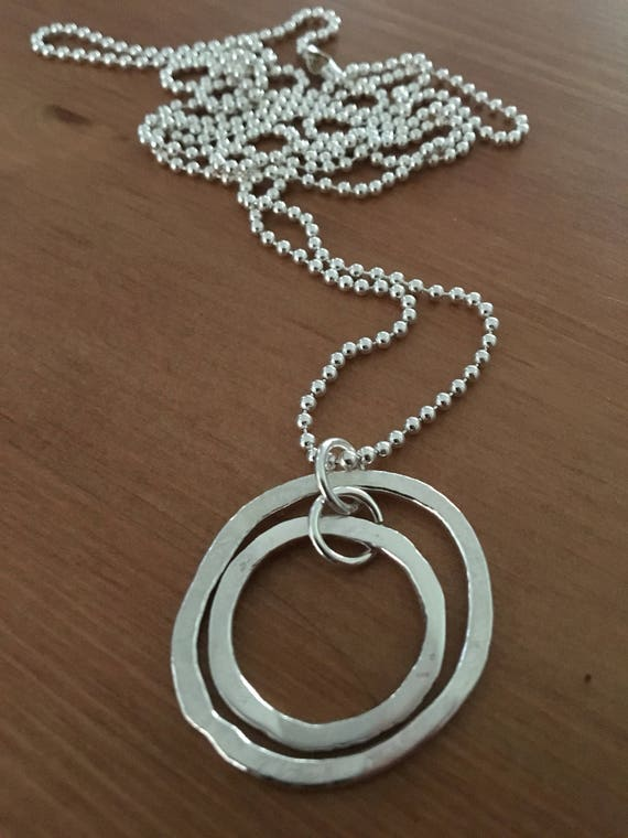 Fine silver pendant with sterling chain