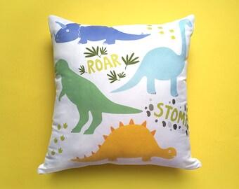Dinosaur Cushion Cover, Dinosaur Pillow, Kids Cushions, Dinosaur Gift, Animal Cushion, Dinosaur Decor, Pillow Cover, Playroom Cushion, T Rex