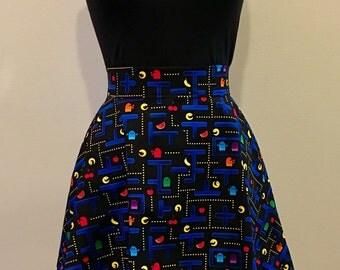 Pac-Man Inspired Retro Nerd Geek Skirt