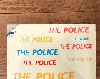 Vintage Stickker-Gram postcards - The Police