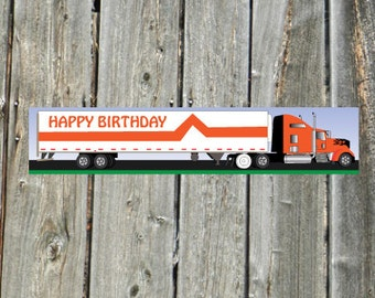 Big Rig Semi Truck and Trailer 18 wheeler - Pin the Tire on the Semi Truck Birthday party game- INSTANT DOWNLOAD you PRINT jpeg files