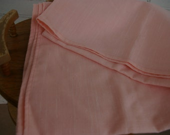 Pink Linen Tablecloth or Fabric- Excellent Condition