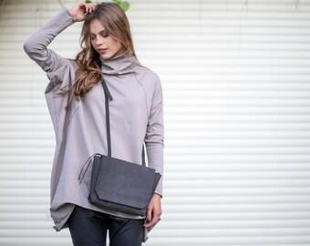 Women Purse with Zipper, Small - Medium Leather Bag, CrossBody,  Shoulder Bag