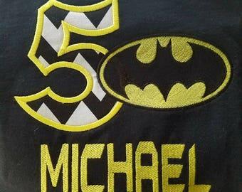 Batman Birthday Shirt Batman Logo Birthday Shirt