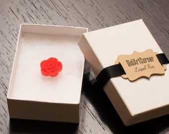 Lapel pin, Mini Red Sakura Lapel Pin, Flower Lapel Pin, Chrysanthemum Lapel Pin, lapel pin, lapel flower pin,