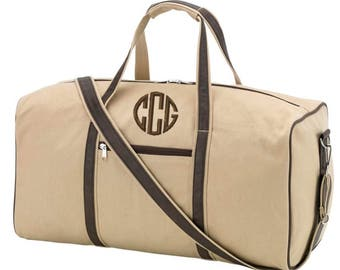 Monogrammed Duffel Bag Mens Luggage Travel Graduation Wedding Groomsmen Dawson