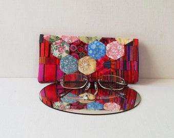 Hand Made Eye Glasses Case Cotton Fabric English Paper Pieced