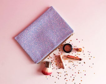 Light Blue Glitter Clutch Bag, Sky Blue Evening Bag, Pastel Blue Clutch Bag, Pastel Glitter Wedding Bag, Blue Clutch,