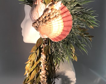 Sea Queen Mermaid Headdress