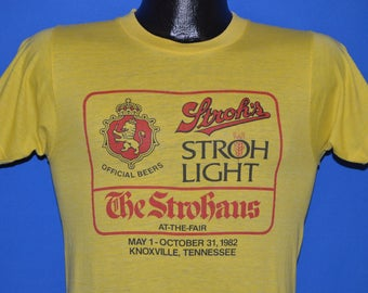 80s Stroh's Beer The Strohaus t-shirt Small