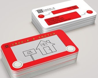 Custom Creative Business Card- Etch A Sketch