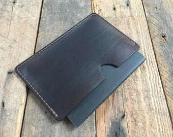 Field Notes Cover - Bison Brown - Hand Dyed - Veg Tan Leather - Choice of Thread Colour - Hand Stitched