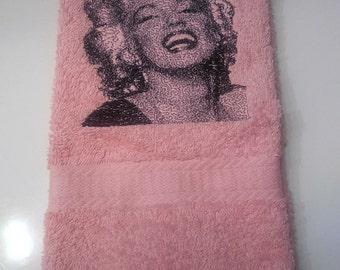 Marylin Monroe Bathroom Hand Towel