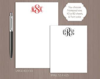Monogram Notepad . Personalized Notepad . Teacher Notepad . Gift For Mom . Monogram Note Pad . Personalized Note Pad . Teacher Note Pad