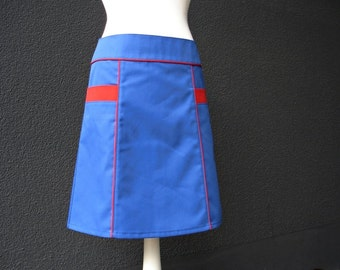Skirt retro Rock BIBI BLUE ladies skirt blue red retro skirt 60s women