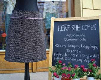 Fine corduroy skirt WHITEBLACKGREY with lilac Lady rock ladies corduroy dark grey skirt