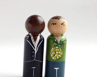 PSYCH! Pegdoll Set - Ready to Ship {Peggies by Steph}