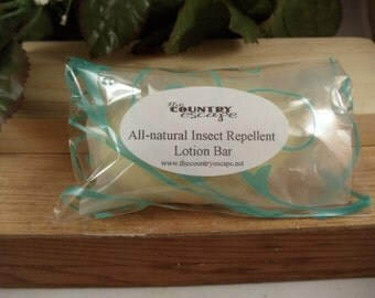 All Natural Organic Insect Repellent Bar - Helps Repels Mosquitoes -Moisturizes and Protects -100% All Natural with Jojoba Oil Cocoa Butter