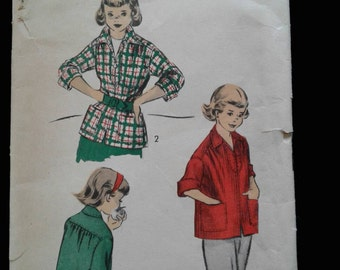 50s Advance girls top pattern 5988 Size 6 and 8