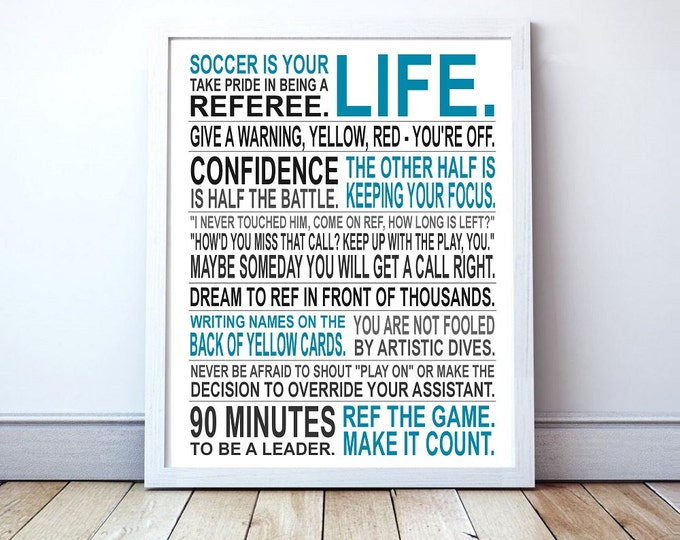 Life of a Soccer Referee - Custom Manifesto Print