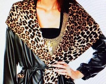 Leather Hoody Jacket