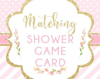 Made to Match Printable Shower Game Card, Add-on to your Invitation Order, Made to Order, DIGITAL FILES