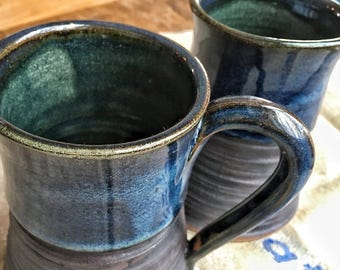 Handmade Pottery Mugs, pair of beautiful coffee mugs