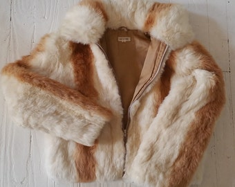 Vintage 80's Rabbit Fur Jacket