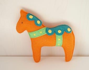 Pony Dala Baby Rattle - Wool Blend Felt Toy