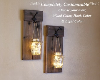 mason jar wall sconces candle holder mason jar lights rustic wall decor