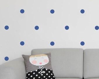 Purple blue circles - 2.5 inches