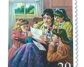 10 Vintage Little Women Postage Stamps //  Louisa May Alcott Book Postage Stamps // 29 Cent Vintage Stamps for Mailing