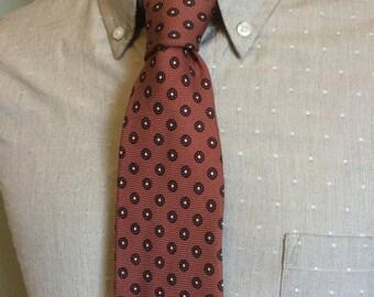 ON SALE Neiman Marcus Dusty Pink Floral Foulard Men's English Silk Necktie c1970s