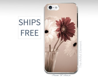 iPhone 7 plus case, Flower iPhone 5 case, Daisy iPhone SE, iPhone 6 plus case // Pretty flower Gerbera Daisy Photography-Slim iPhone cases