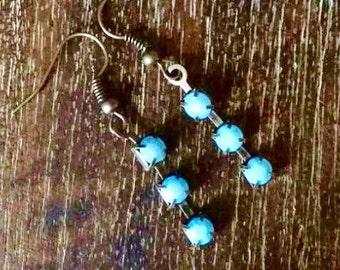 Blue Earrings, Boho Earrings, Small Boho Earrings, Sky Blue Earrings, Dangle Earrings