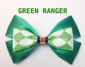 green ranger hair bow