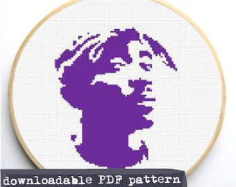"Counted Cross Stitch Pattern ""Tupac"""
