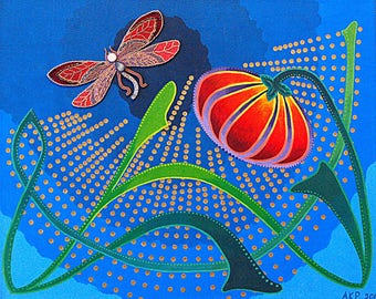 """High Quality Print of """"Chasing the Dragonfly"""""""