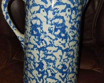 Vintage Stoneware Splatterware Pitcher