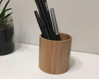 Reclaimed wood pencil holder