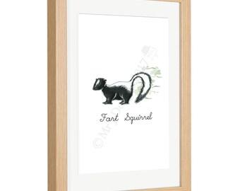 Fart Squirrel Framed Print