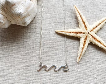 Ocean Waves Sterling Silver Necklace