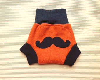 Wool diaper cover Upcycled wool soaker Ready to ship  Hipster diaper cover boy Large diaper cover Diaper wool cover Baby diaper covers