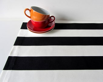 Tablecloths cloth ceiling table runner black and white stripes 20x55inch