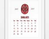 2017 Printable Calendar, ...