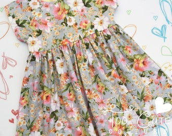 Soft Grey Floral Dress