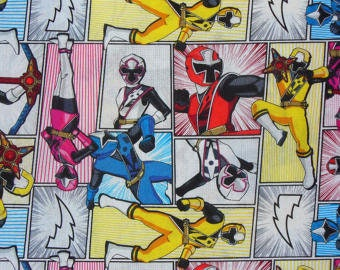 Power Rangers ~Custom Made~ Fitted Crib/Toddler Sheets and Pillow Cases