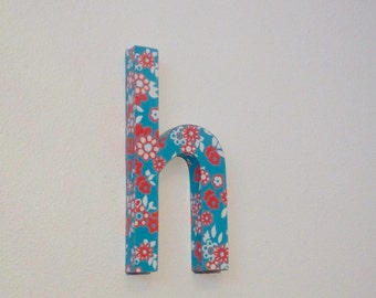 Upcycled cardboard lowercase letter  *SAMPLE SALE!*